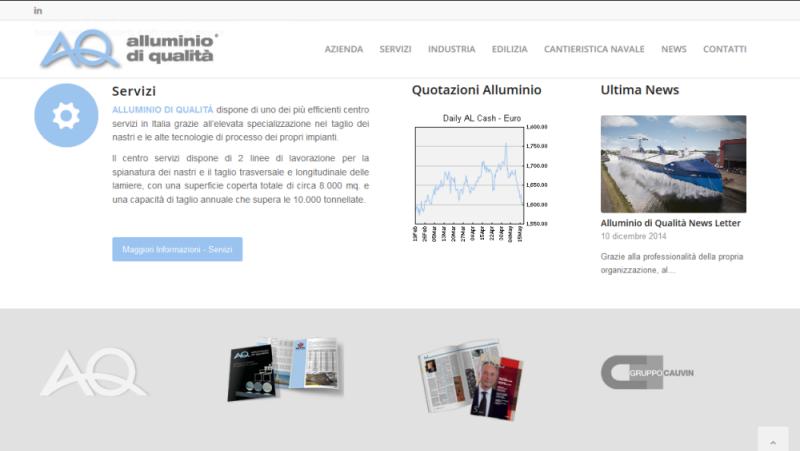 Sito Web Alluminio